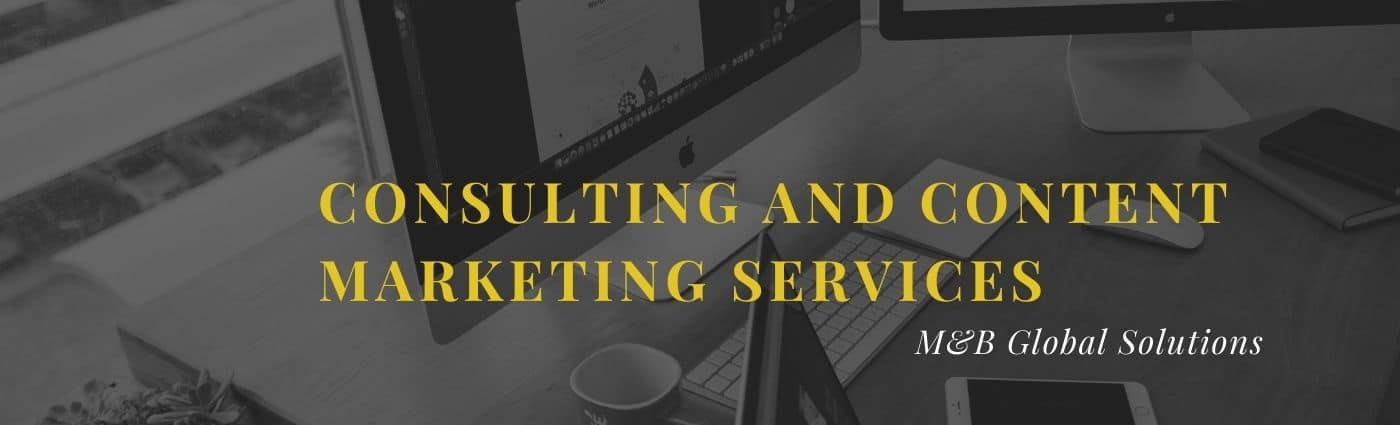 Consulting and Content marketing Services on computer desk
